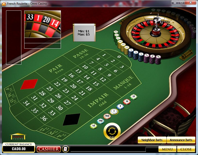 French Roulette Game Online