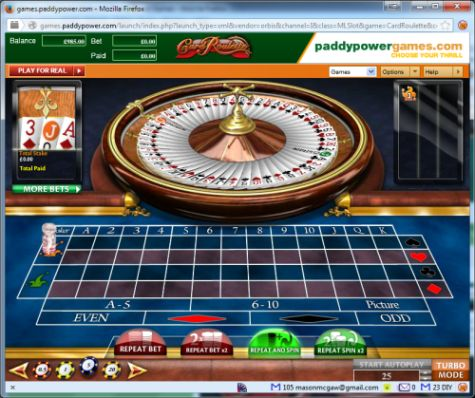 Roulette cards passe in french
